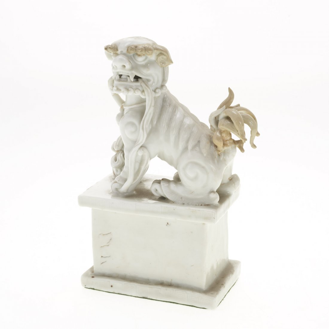 (2) Pair Chinese blanc de chine foo lions - 3