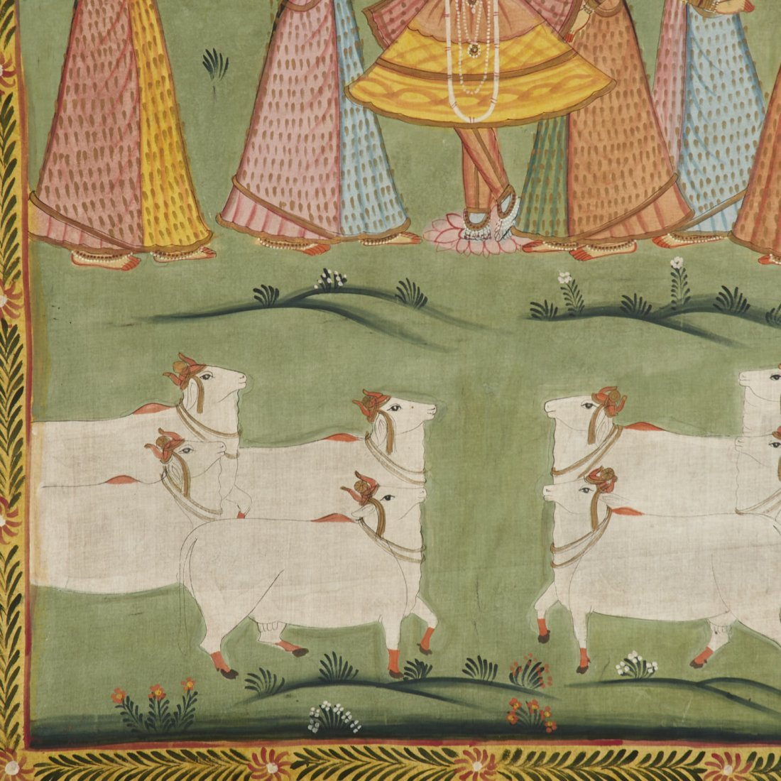 Indian School, large painting on cloth - 3