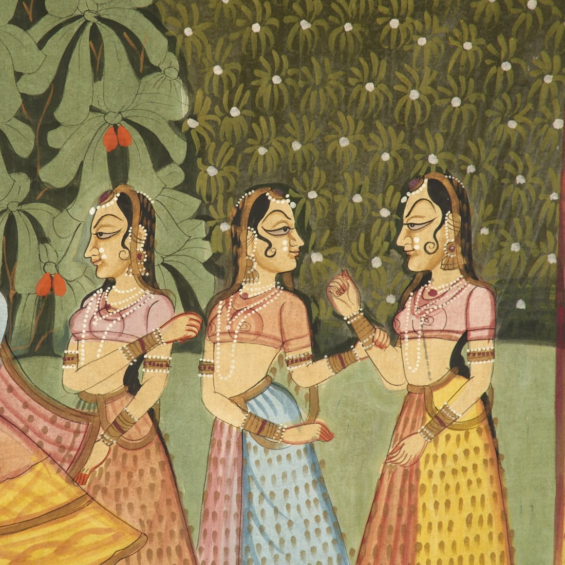 Indian School, large painting on cloth - 5