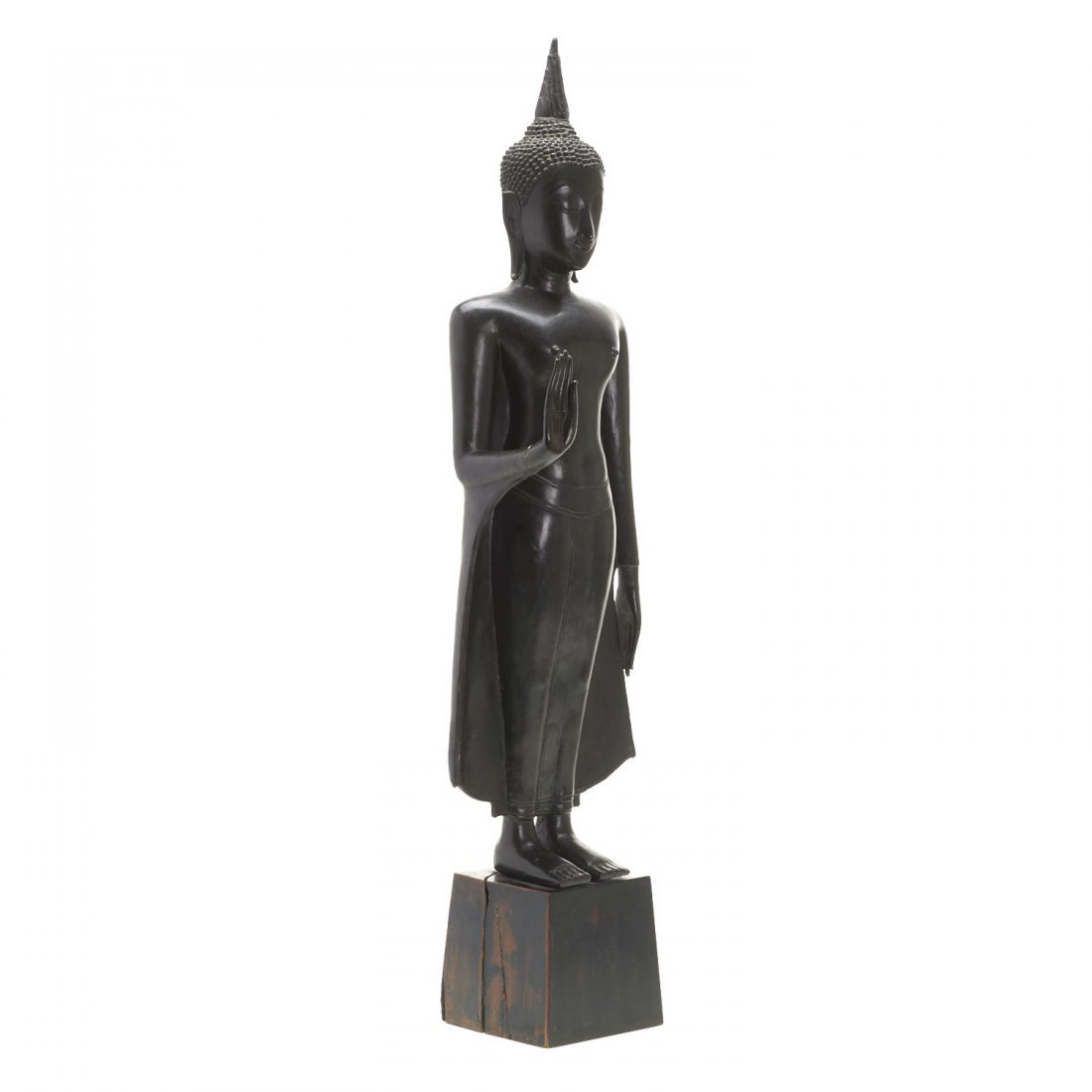 Southeast Asian bronze standing Buddha - 2
