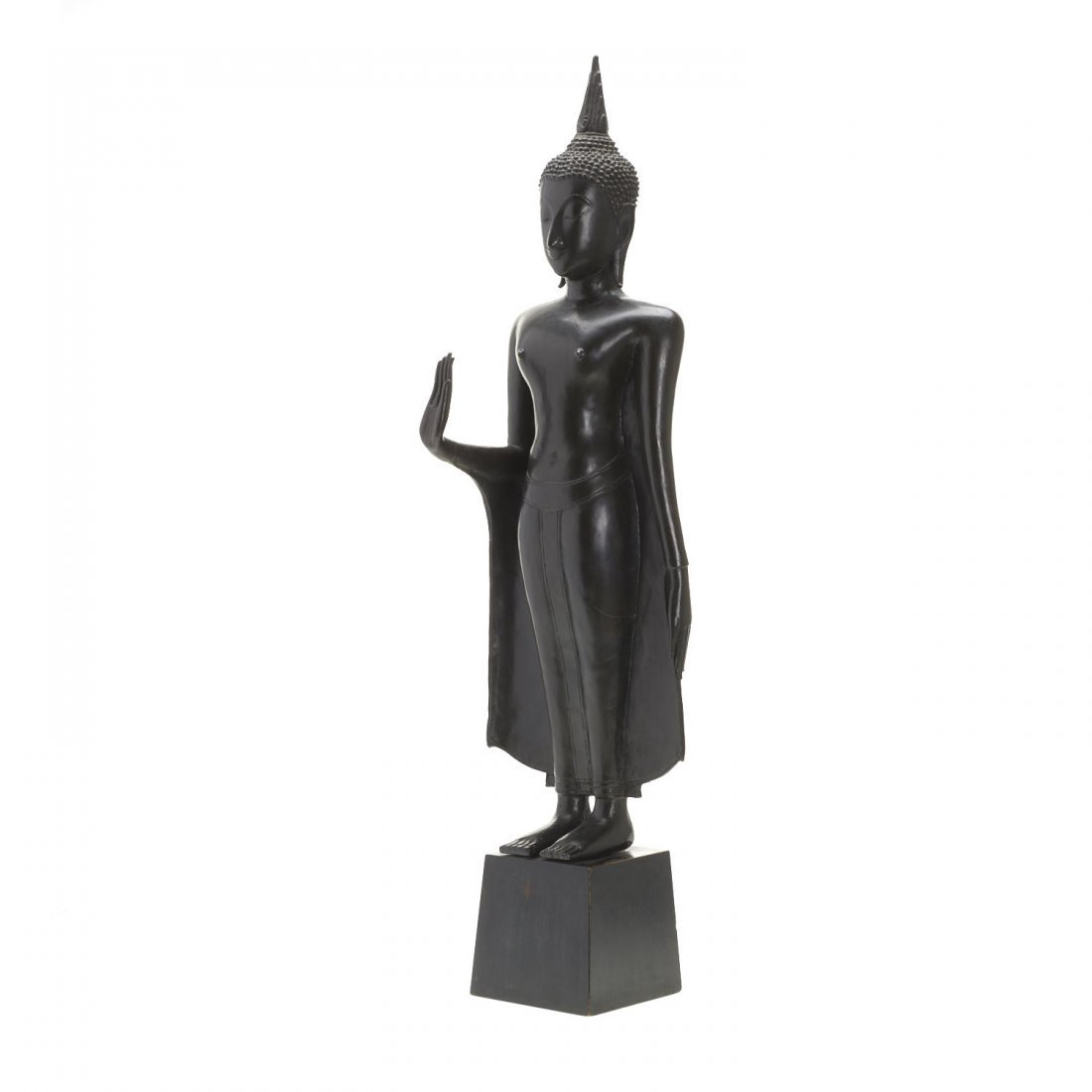 Southeast Asian bronze standing Buddha - 6