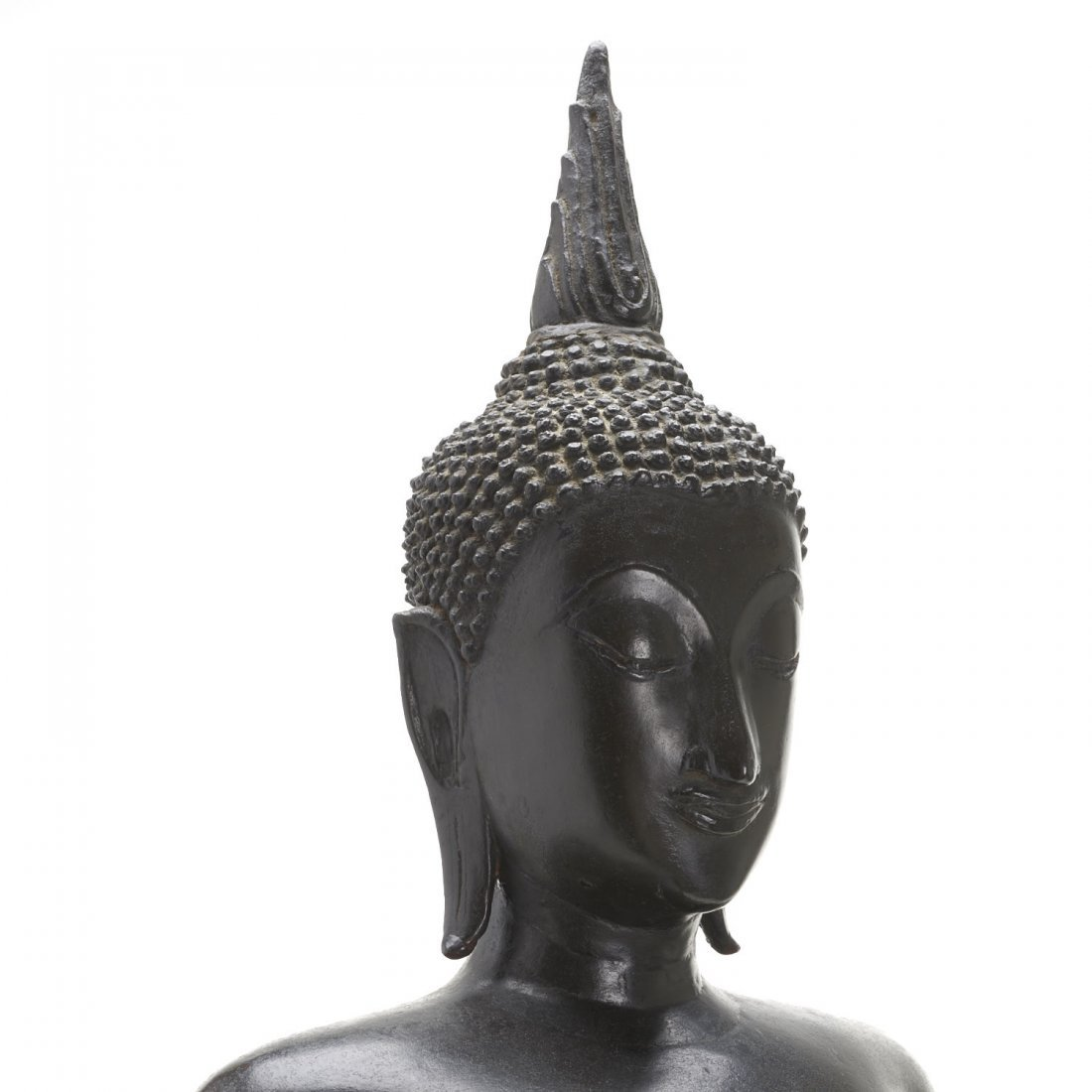 Southeast Asian bronze standing Buddha - 7