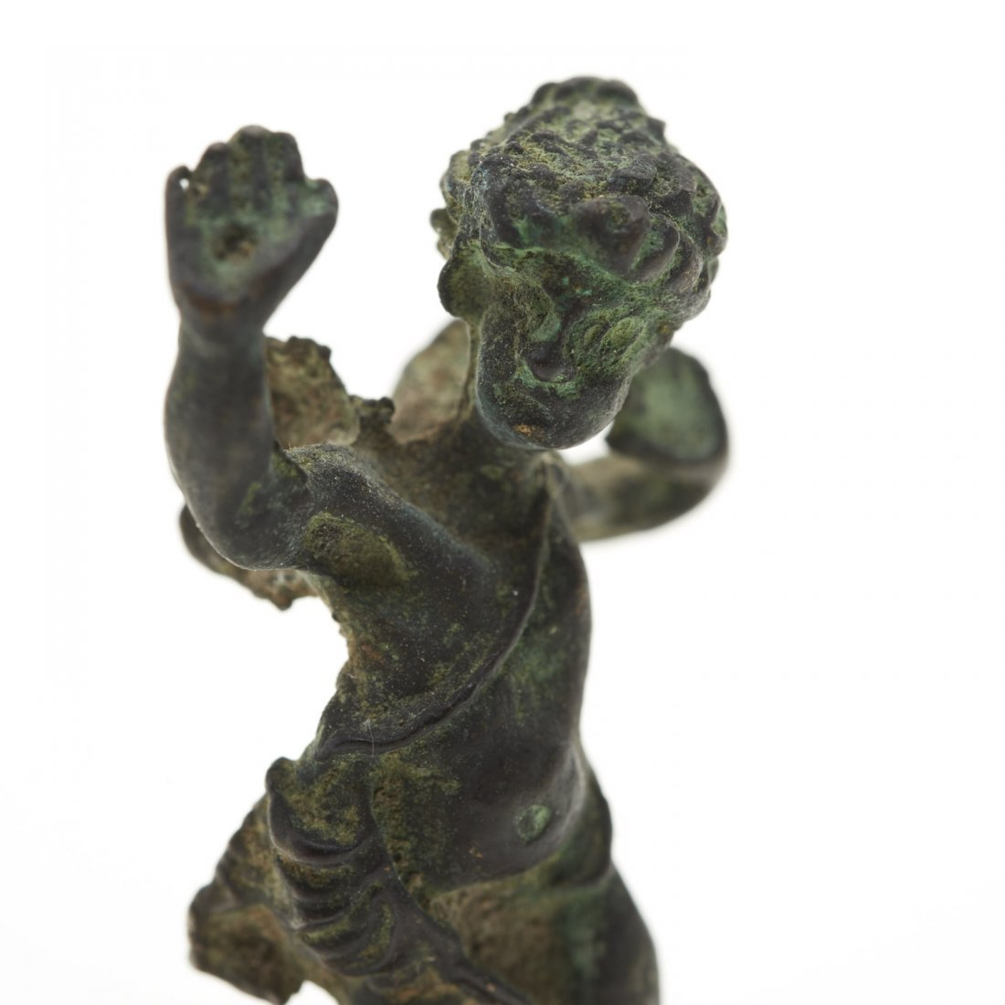 Antique miniature bronze figure of Eros - 2