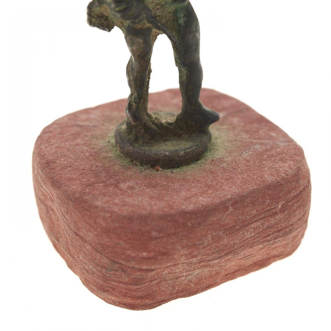 Antique miniature bronze figure of Eros - 3