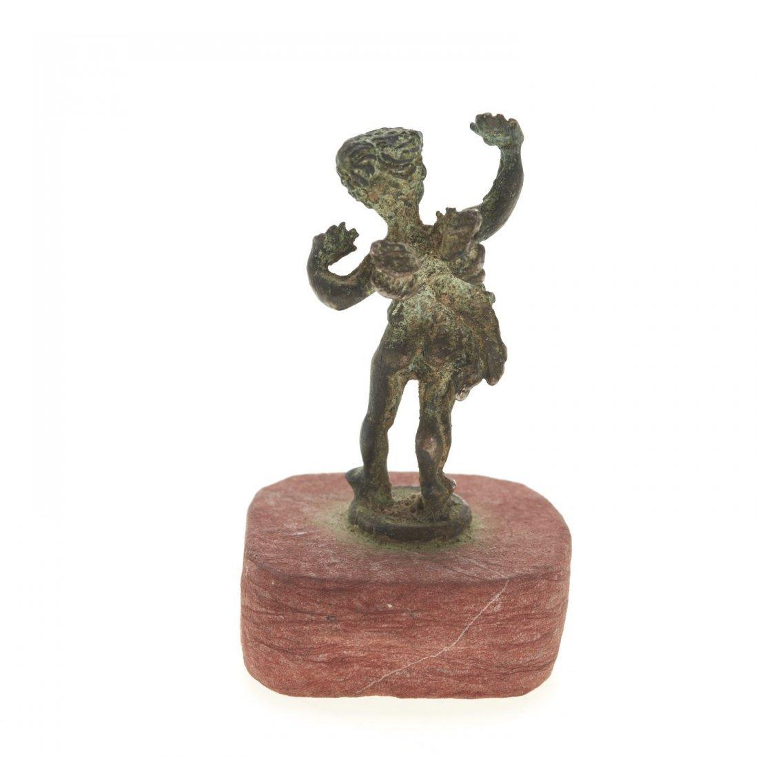 Antique miniature bronze figure of Eros - 4