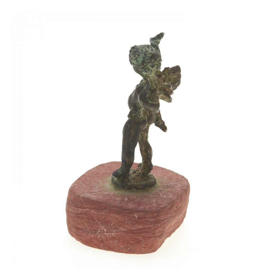 Antique miniature bronze figure of Eros - 5
