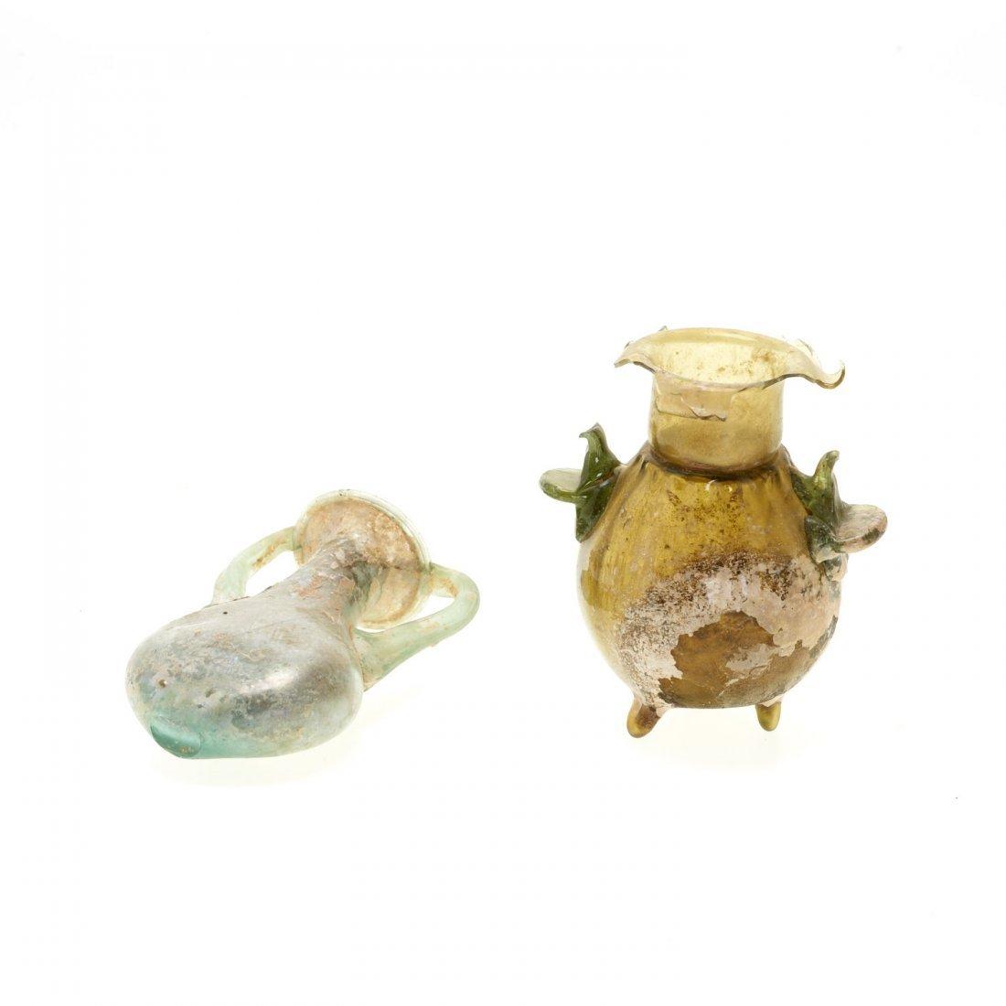 (4) Ancient Roman glass articles - 2