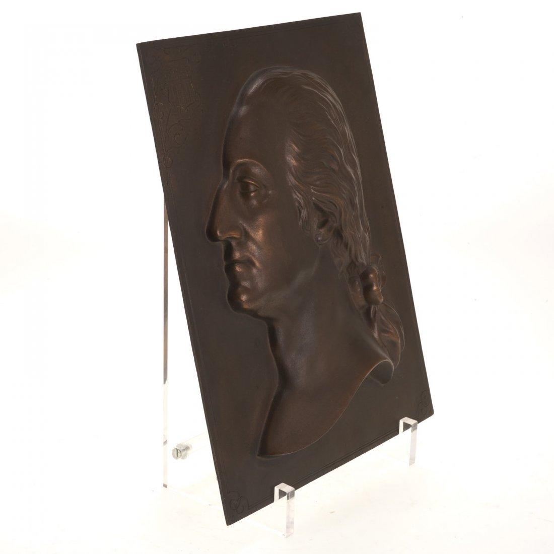Bronze plaque of Washington, Henry Bonnard Foundry - 2