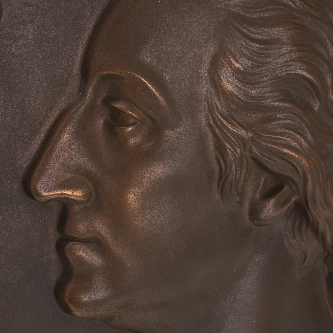 Bronze plaque of Washington, Henry Bonnard Foundry - 4