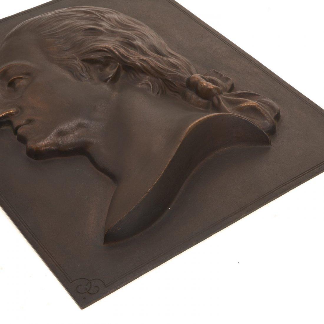 Bronze plaque of Washington, Henry Bonnard Foundry - 5