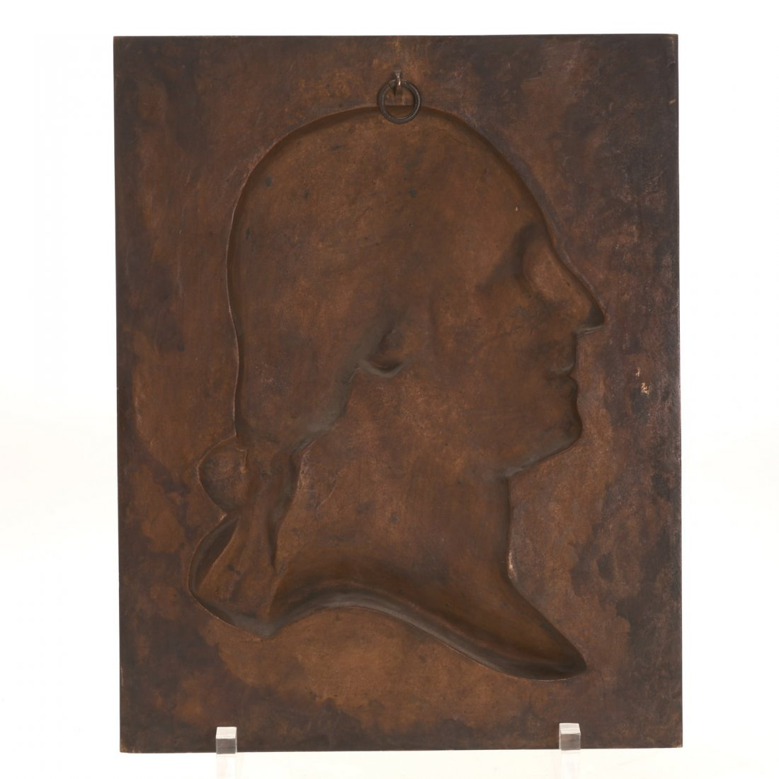 Bronze plaque of Washington, Henry Bonnard Foundry - 7