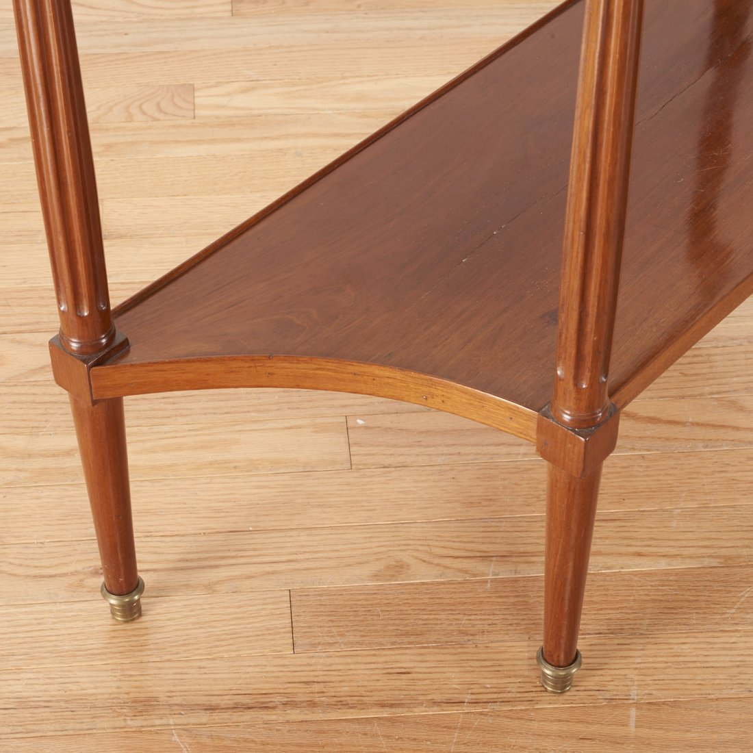 Louis XVI style brass mounted mahogany side table - 3