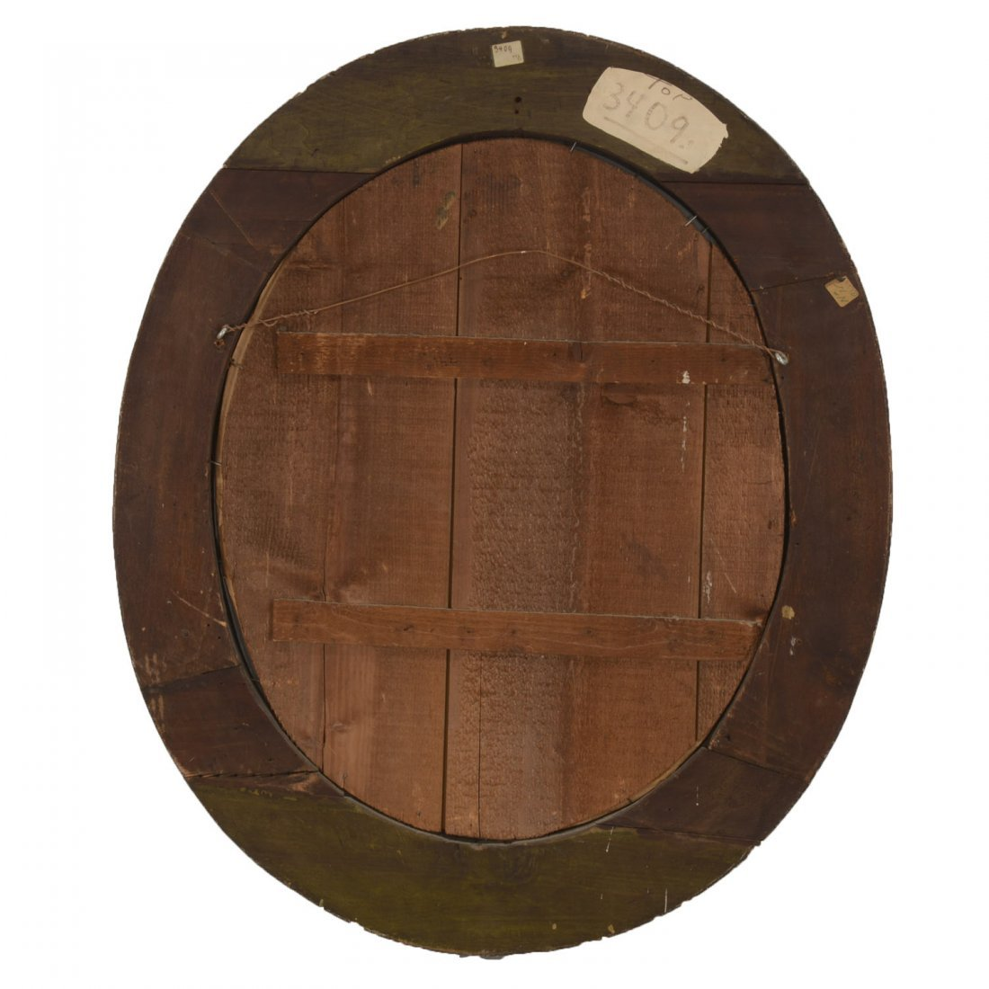 Continental Rococo giltwood oval wall mirror - 7