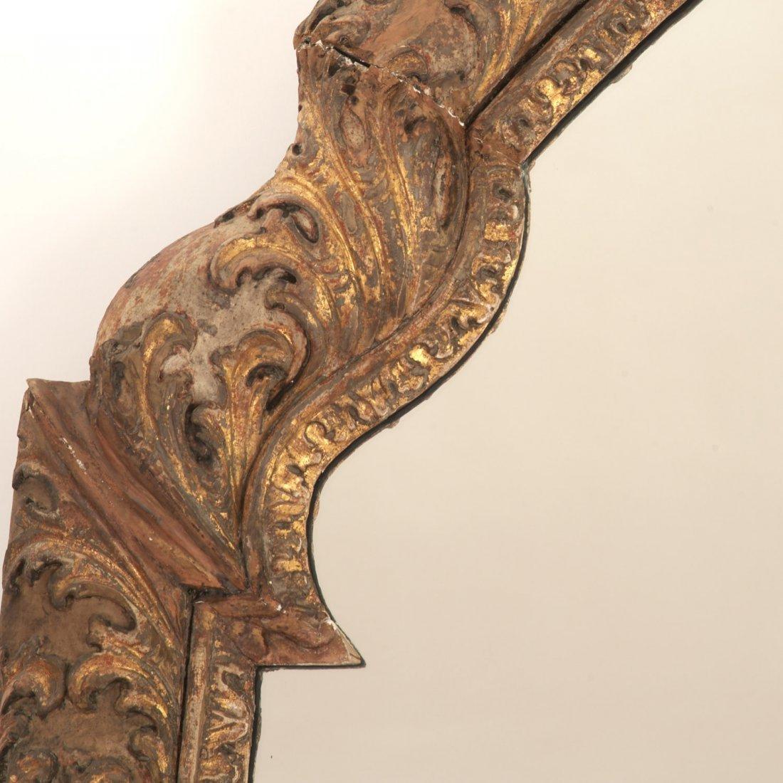 Impressive Louis XV giltwood wall mirror - 3
