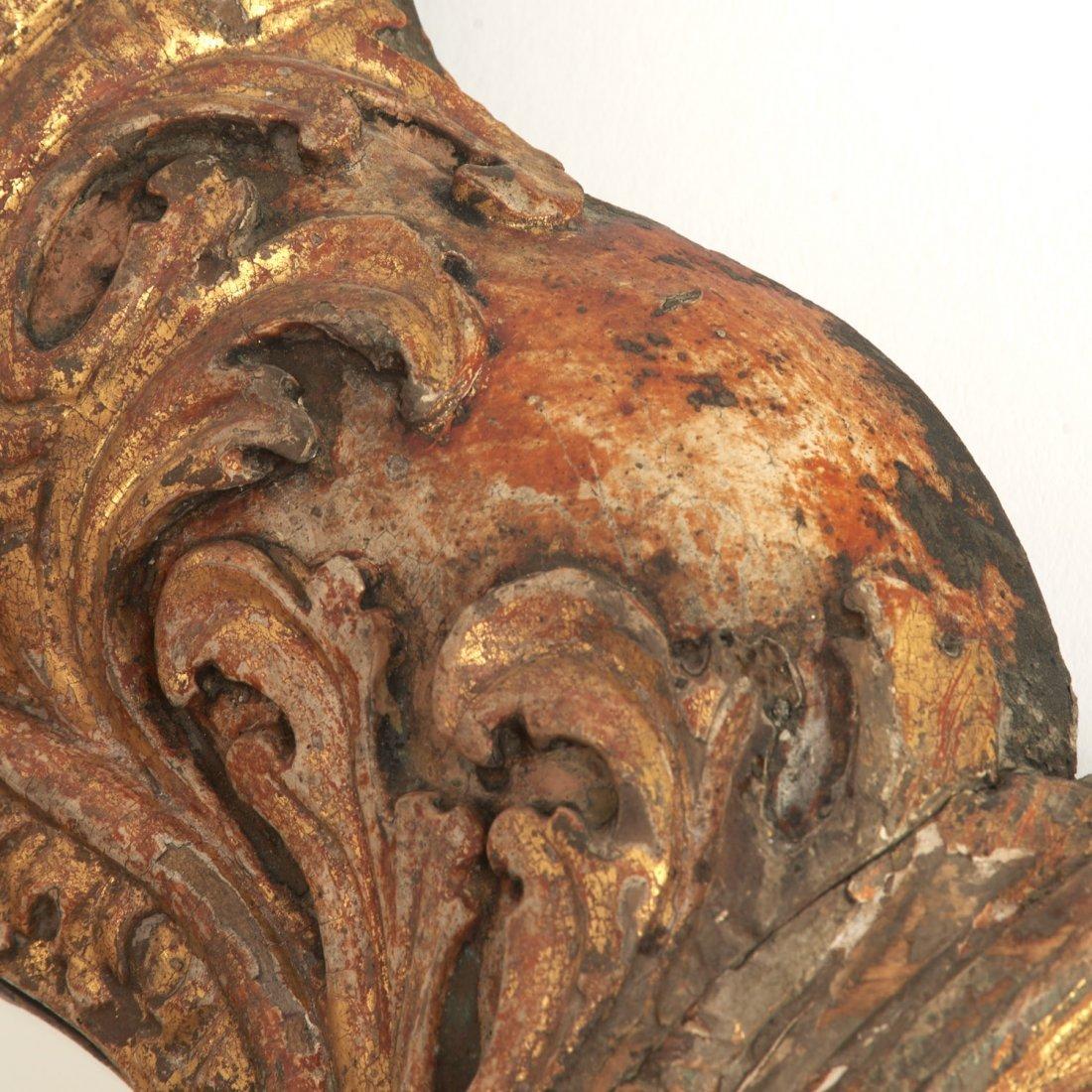 Impressive Louis XV giltwood wall mirror - 4