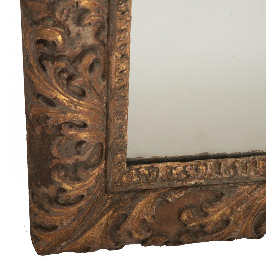 Impressive Louis XV giltwood wall mirror - 5