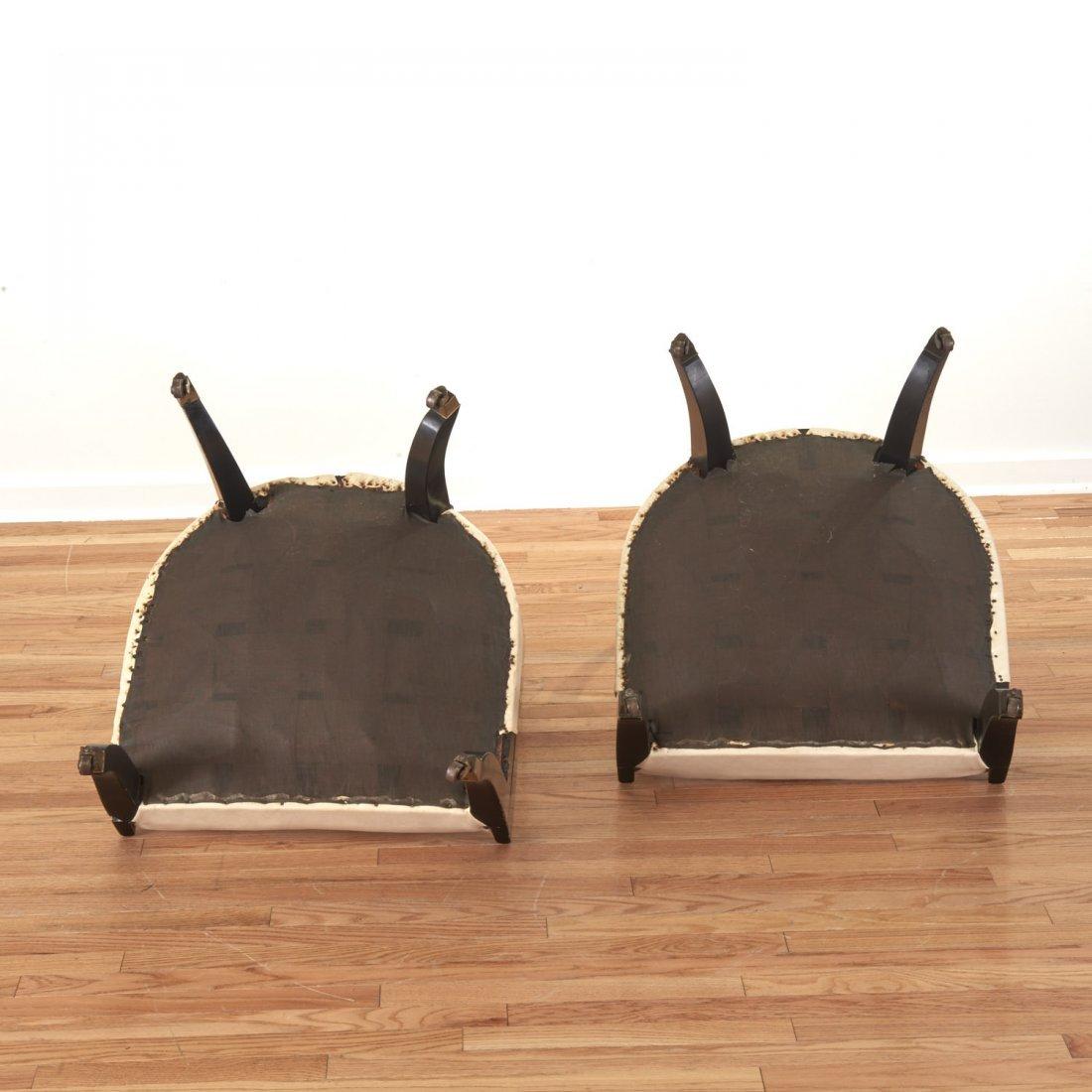 Pair Hollywood Regency spoon-back chairs - 10