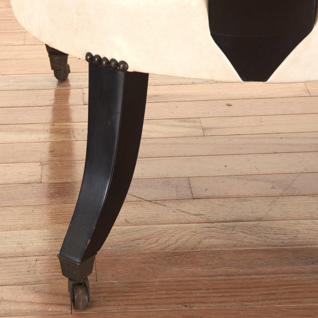 Pair Hollywood Regency spoon-back chairs - 5