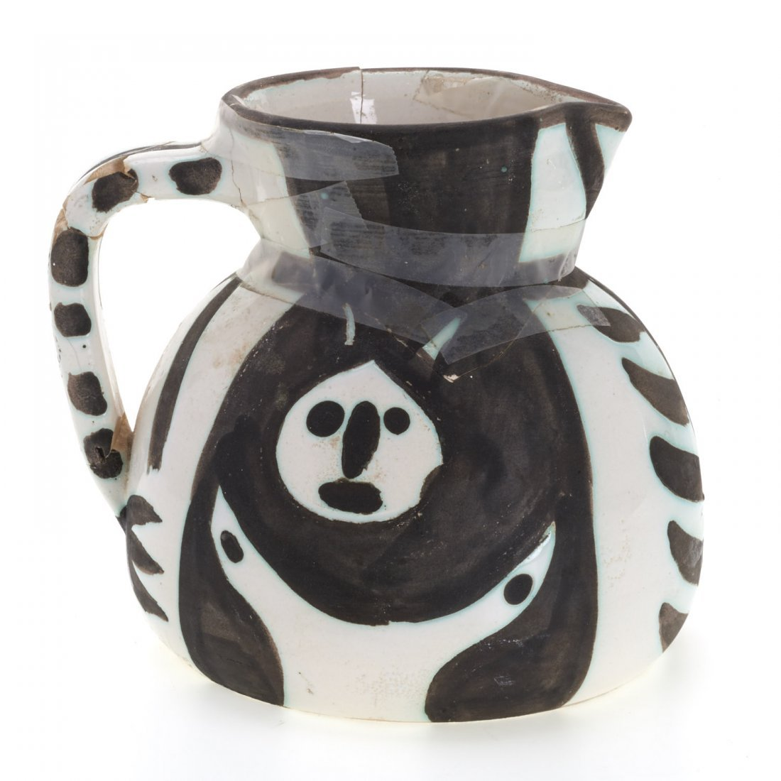 "Edition Picasso Madoura ""Pitchet Tetes"" pitcher"