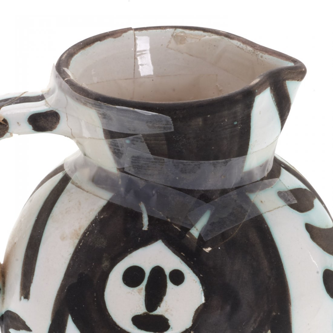 "Edition Picasso Madoura ""Pitchet Tetes"" pitcher - 2"