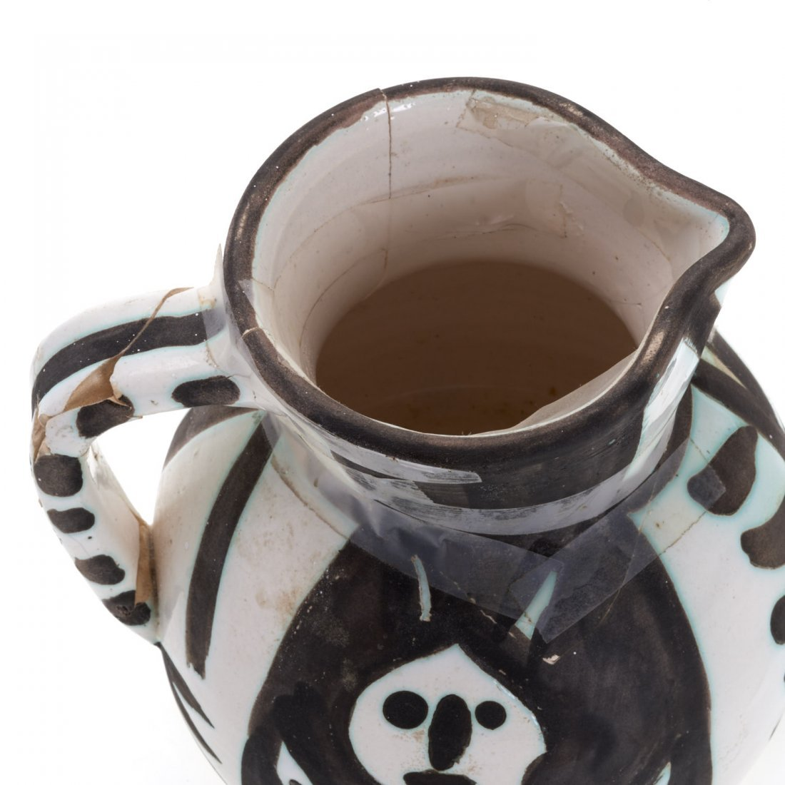 "Edition Picasso Madoura ""Pitchet Tetes"" pitcher - 6"