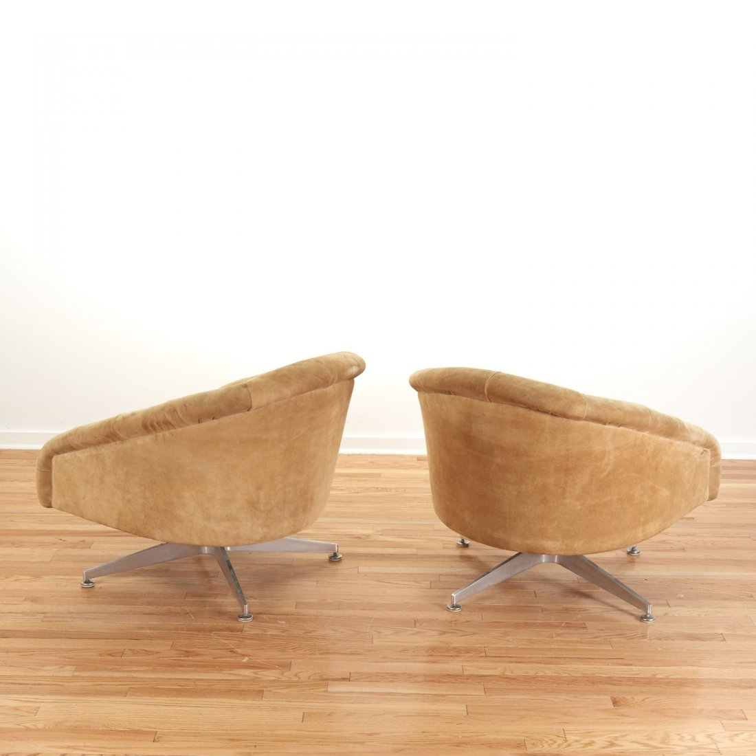 Pair Ward Bennett for Lehigh Leopold lounge chairs - 2