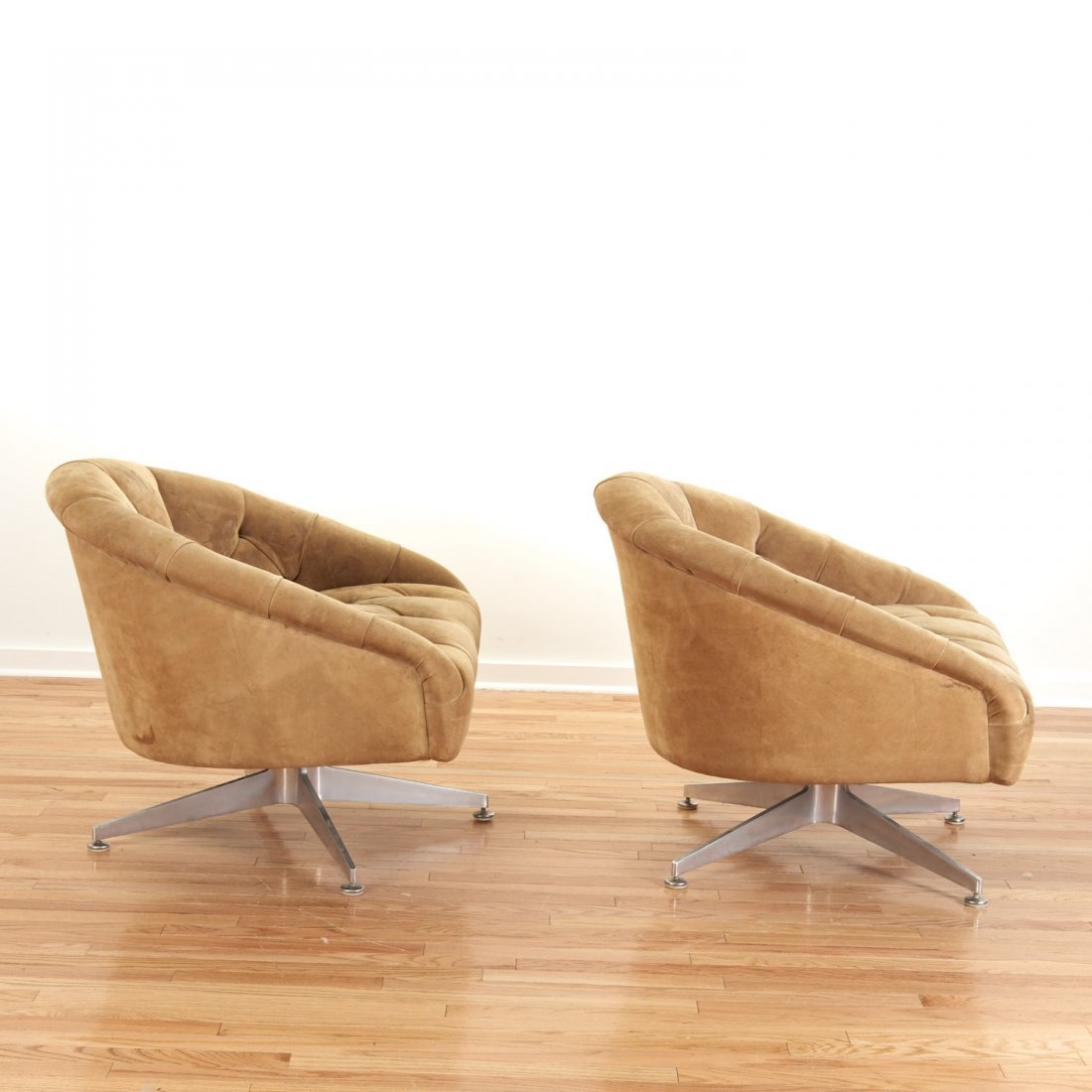 Pair Ward Bennett for Lehigh Leopold lounge chairs - 3