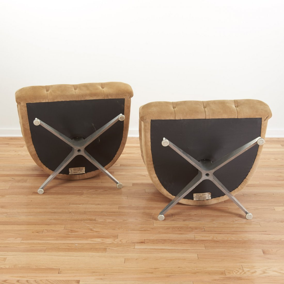 Pair Ward Bennett for Lehigh Leopold lounge chairs - 9