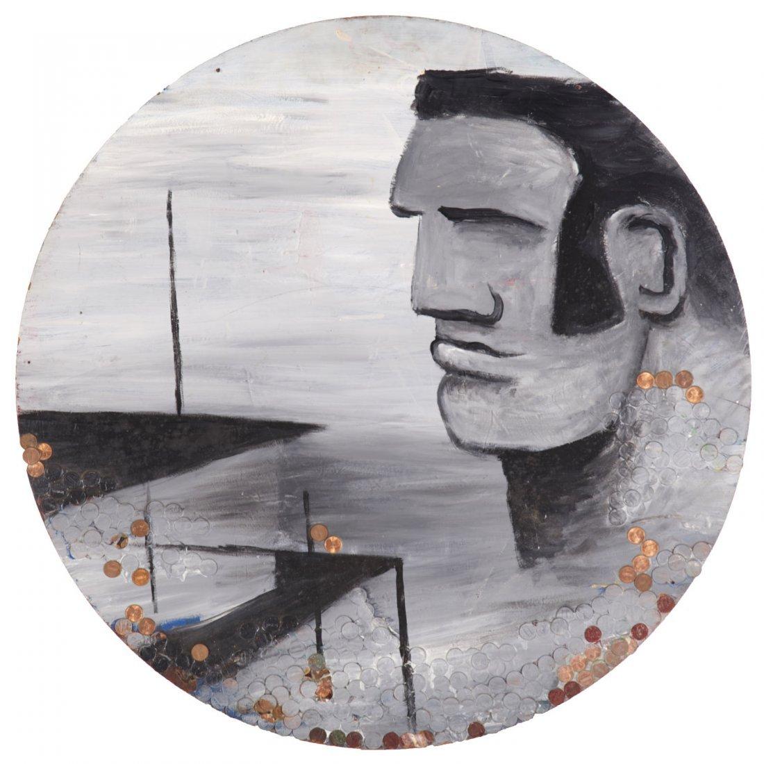 Robert Loughlin, mixed media painting