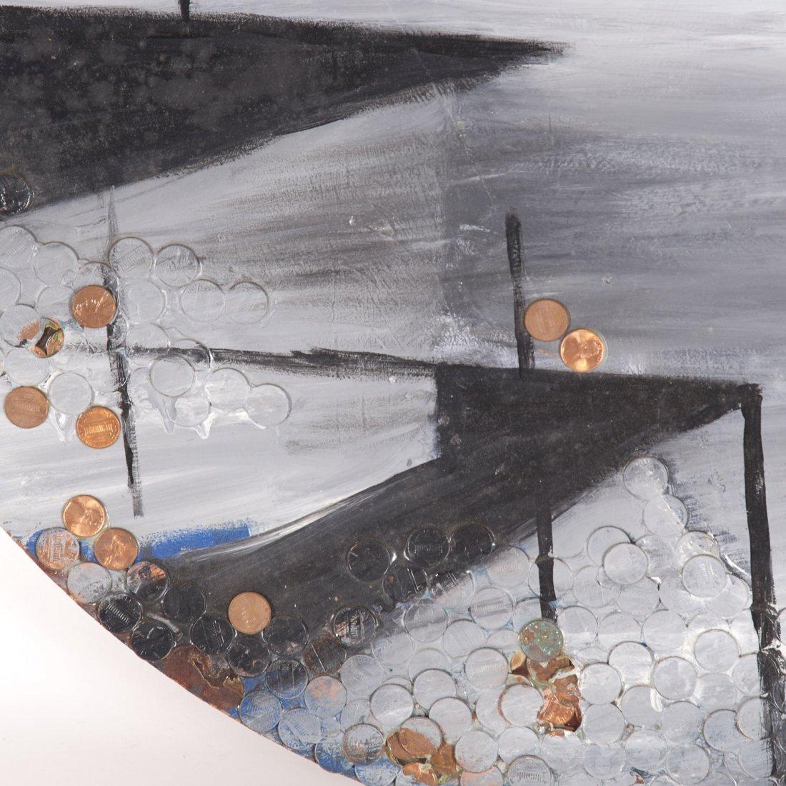 Robert Loughlin, mixed media painting - 2