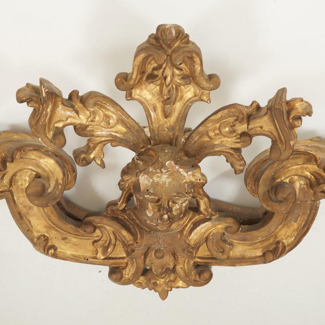 Italian Rococo giltwood wall mirror - 2