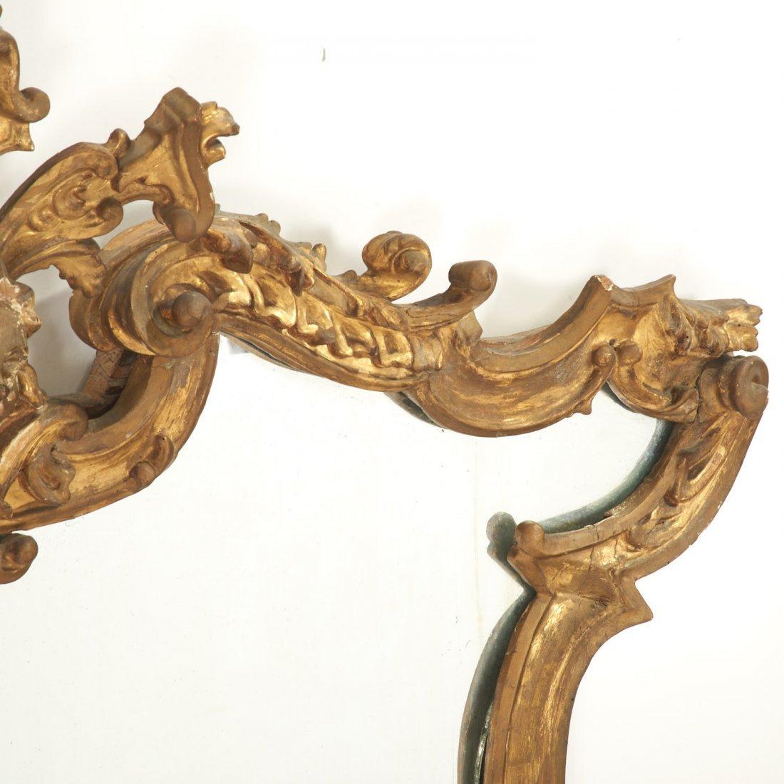 Italian Rococo giltwood wall mirror - 6