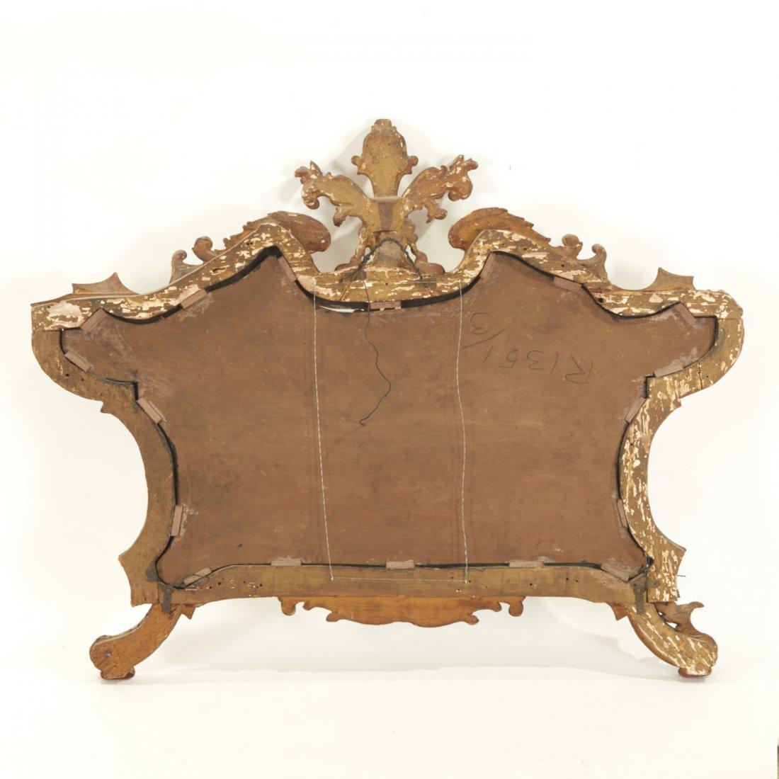 Italian Rococo giltwood wall mirror - 7