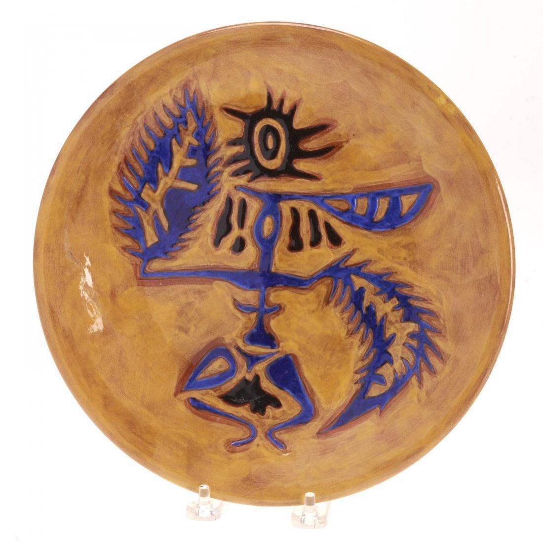 Jean Lurcat glazed ceramic dish