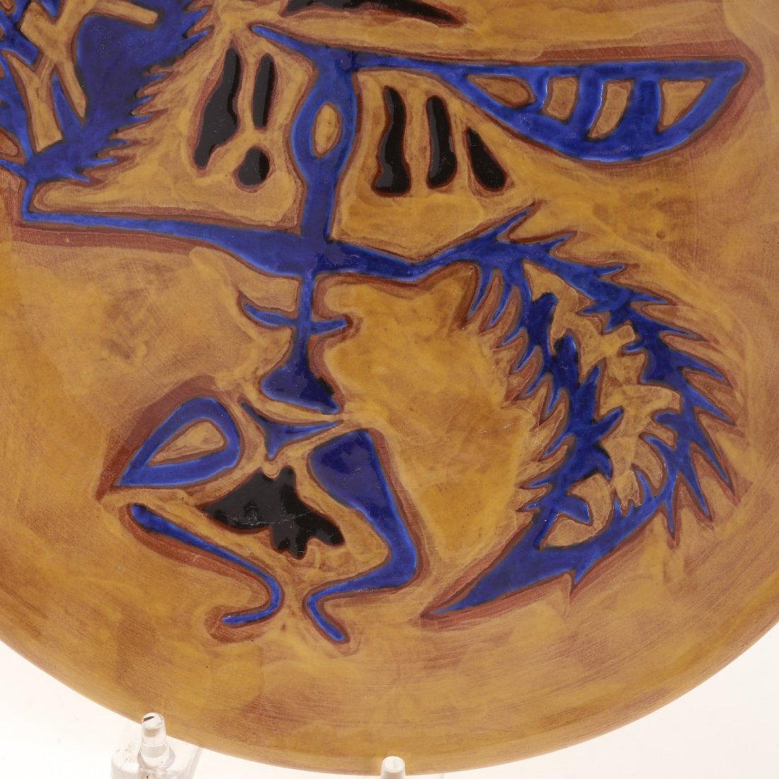 Jean Lurcat glazed ceramic dish - 3