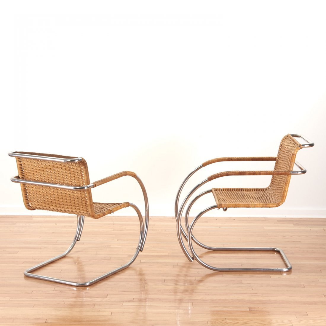 "Pair Mies Van Der Rohe for Stendig ""MR-20"" chairs - 2"
