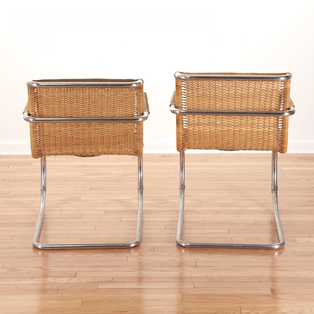 "Pair Mies Van Der Rohe for Stendig ""MR-20"" chairs - 7"