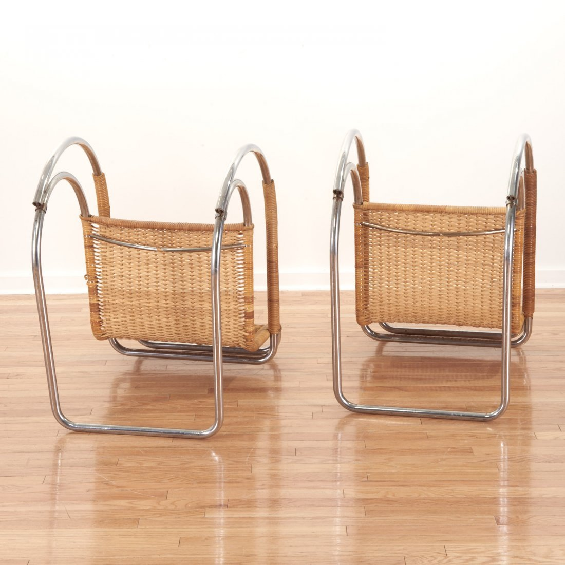 "Pair Mies Van Der Rohe for Stendig ""MR-20"" chairs - 8"