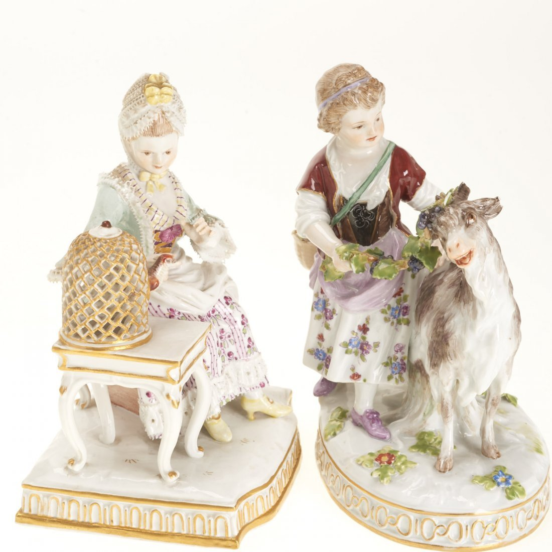 (5) Meissen porcelain figurines and articles - 2