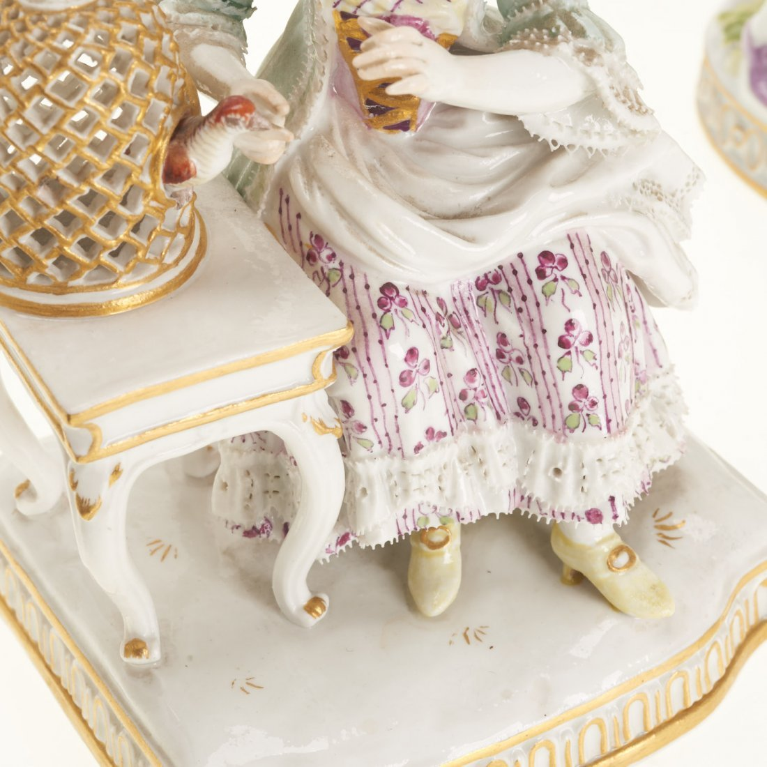 (5) Meissen porcelain figurines and articles - 7