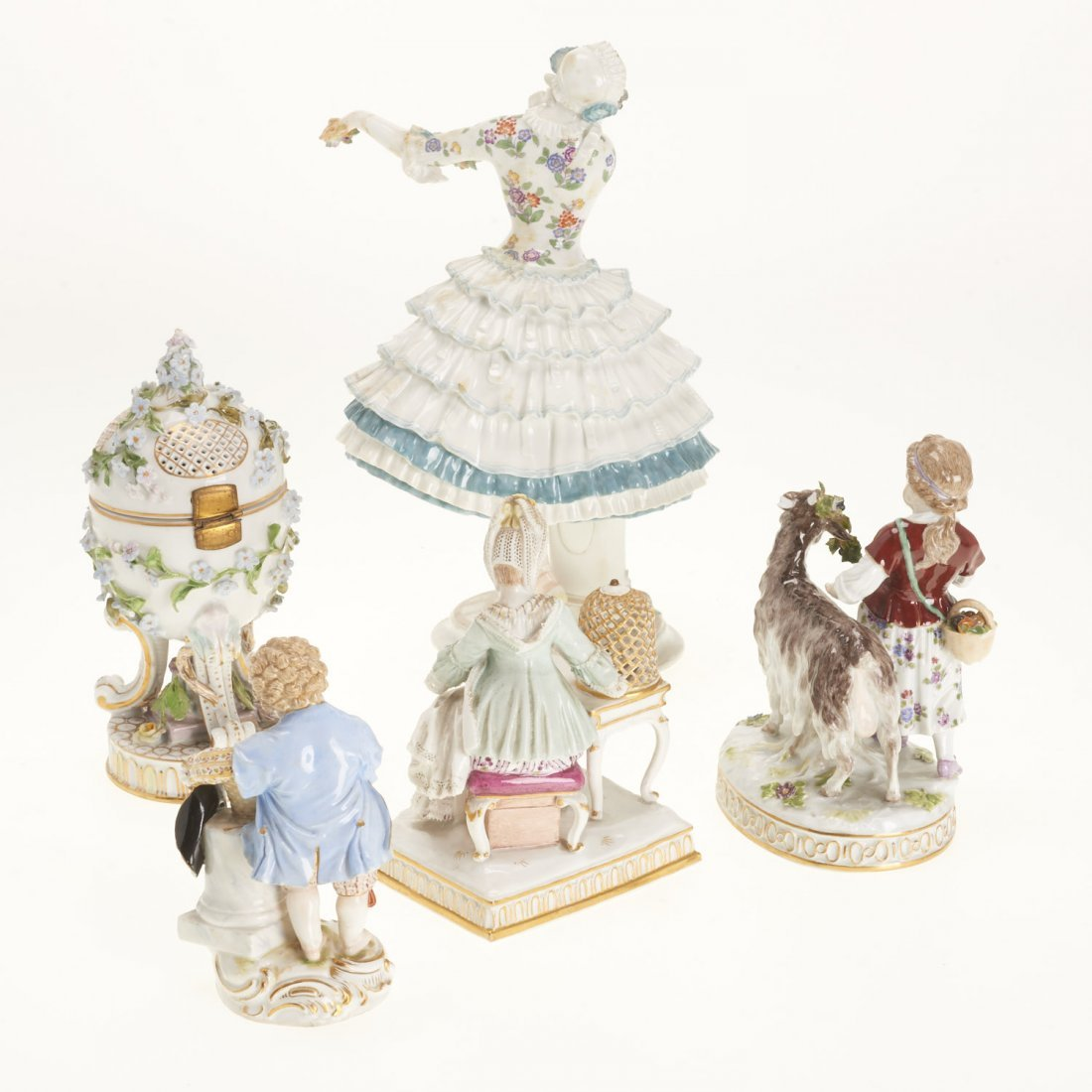 (5) Meissen porcelain figurines and articles - 8