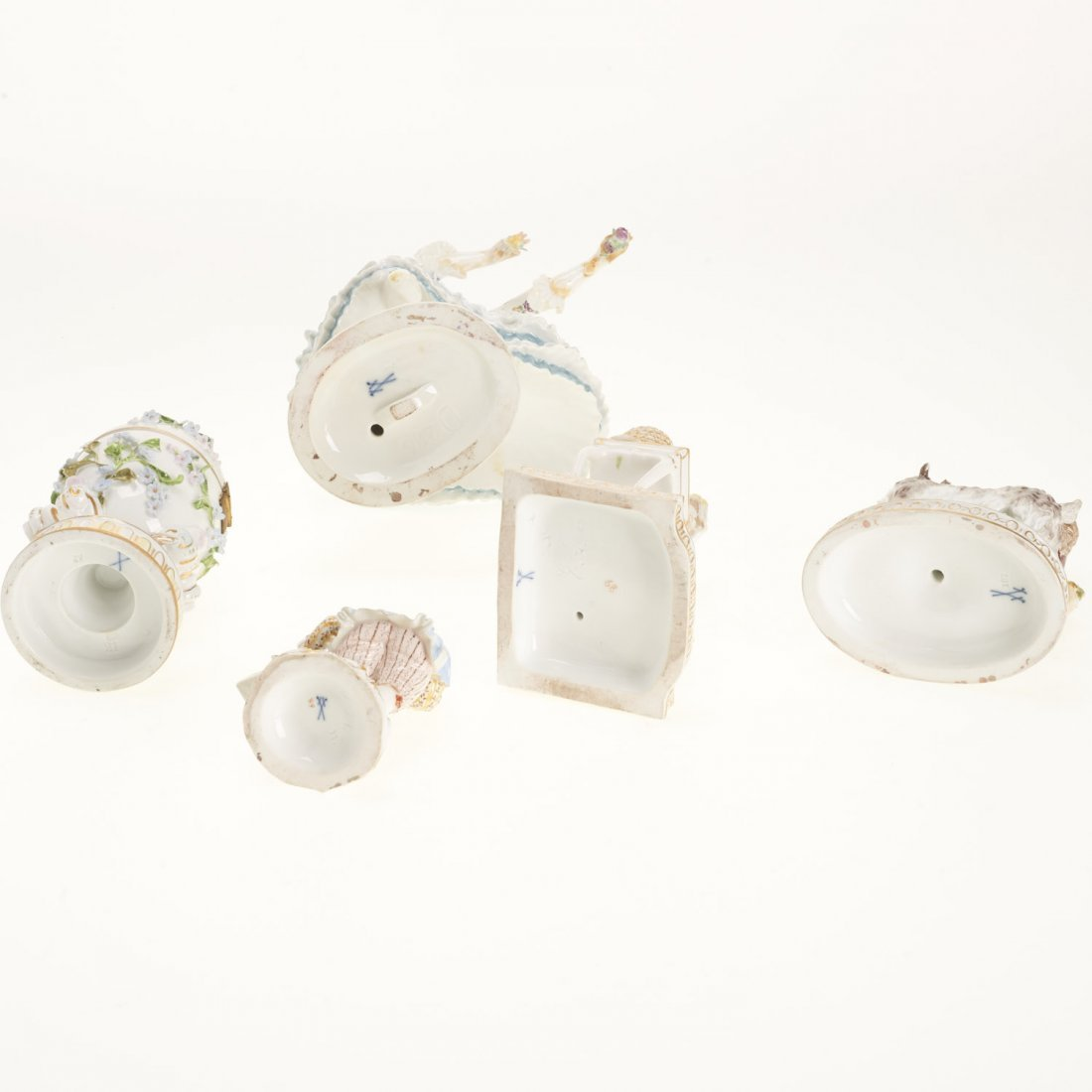 (5) Meissen porcelain figurines and articles - 9