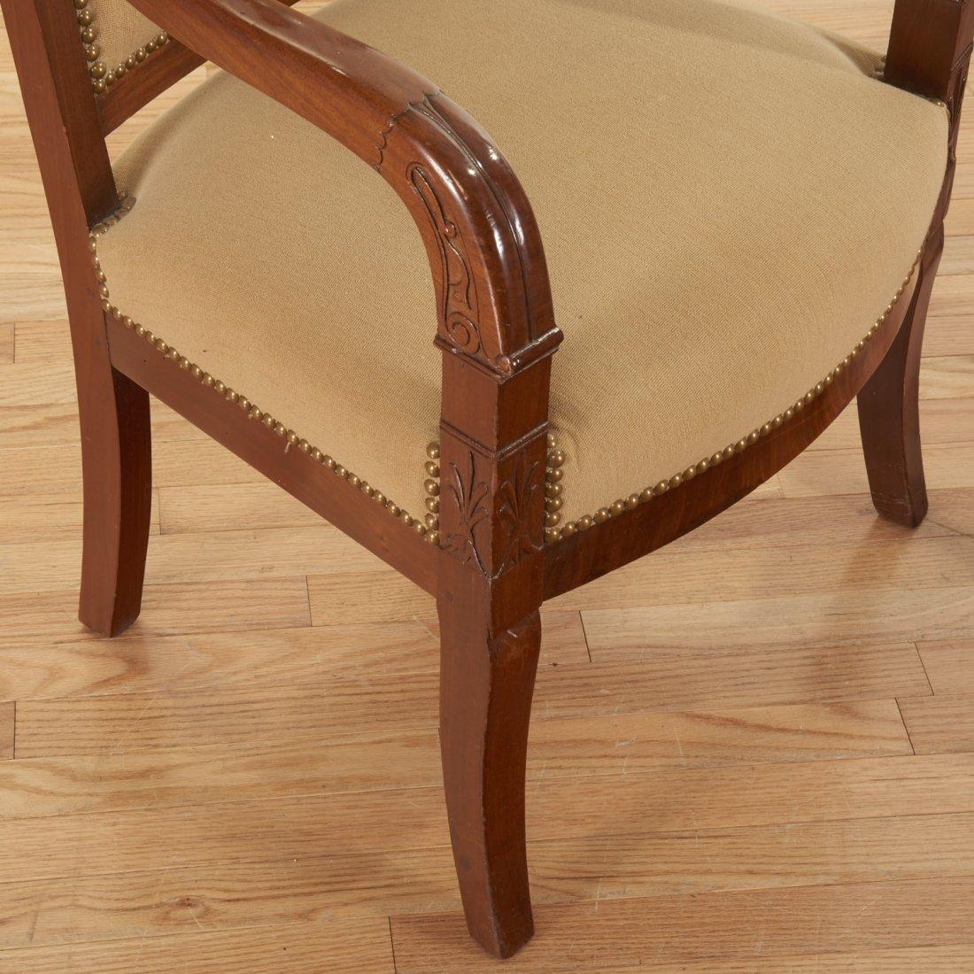 Pair Restauration style mahogany armchairs - 2