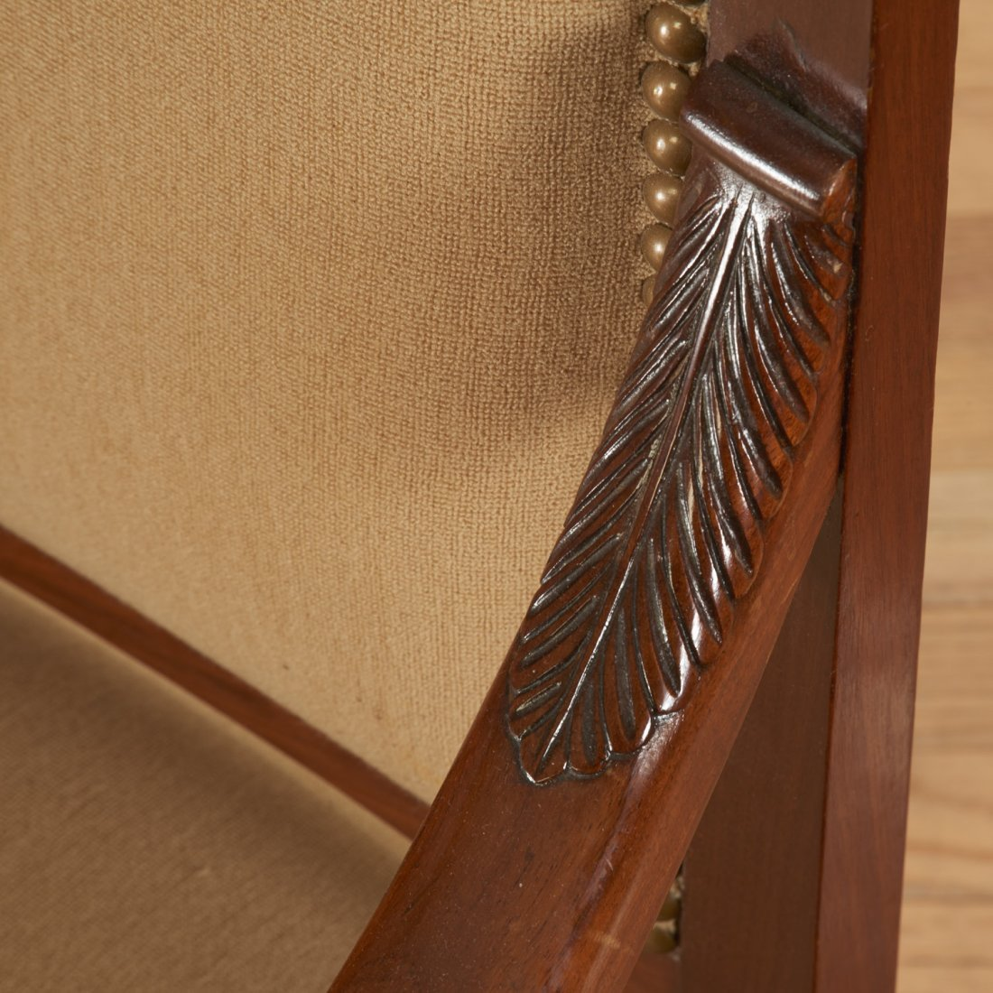Pair Restauration style mahogany armchairs - 5