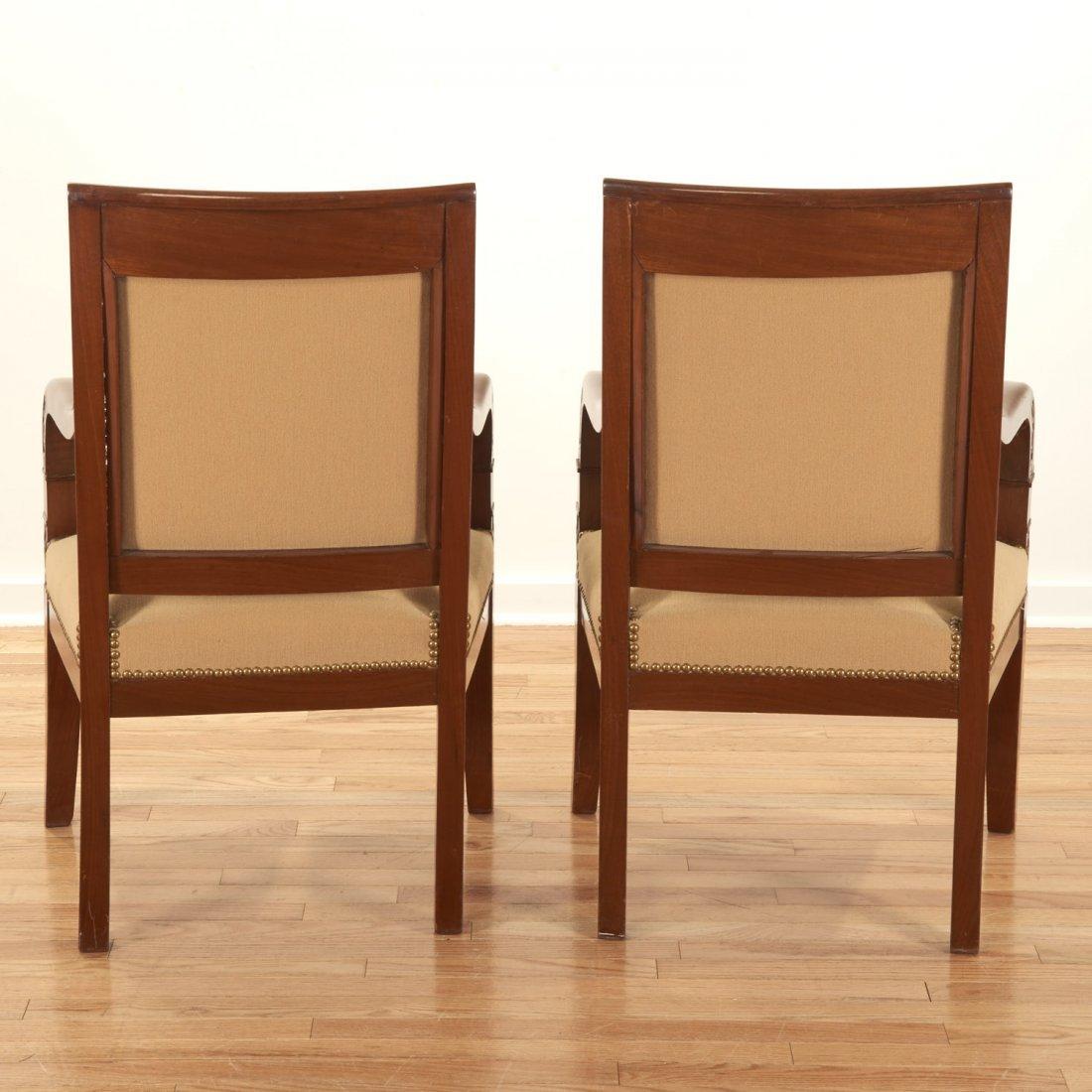 Pair Restauration style mahogany armchairs - 6