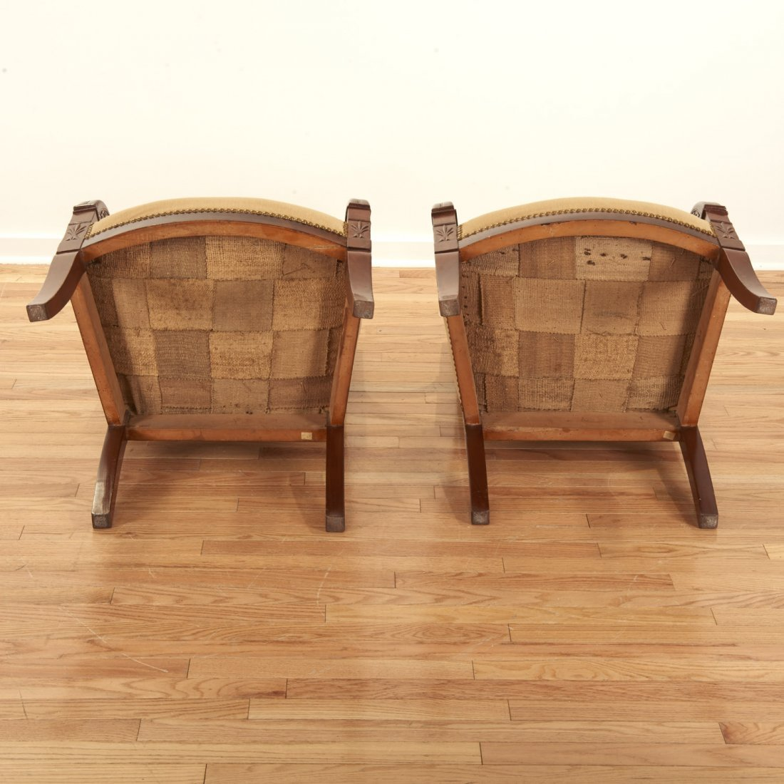 Pair Restauration style mahogany armchairs - 8