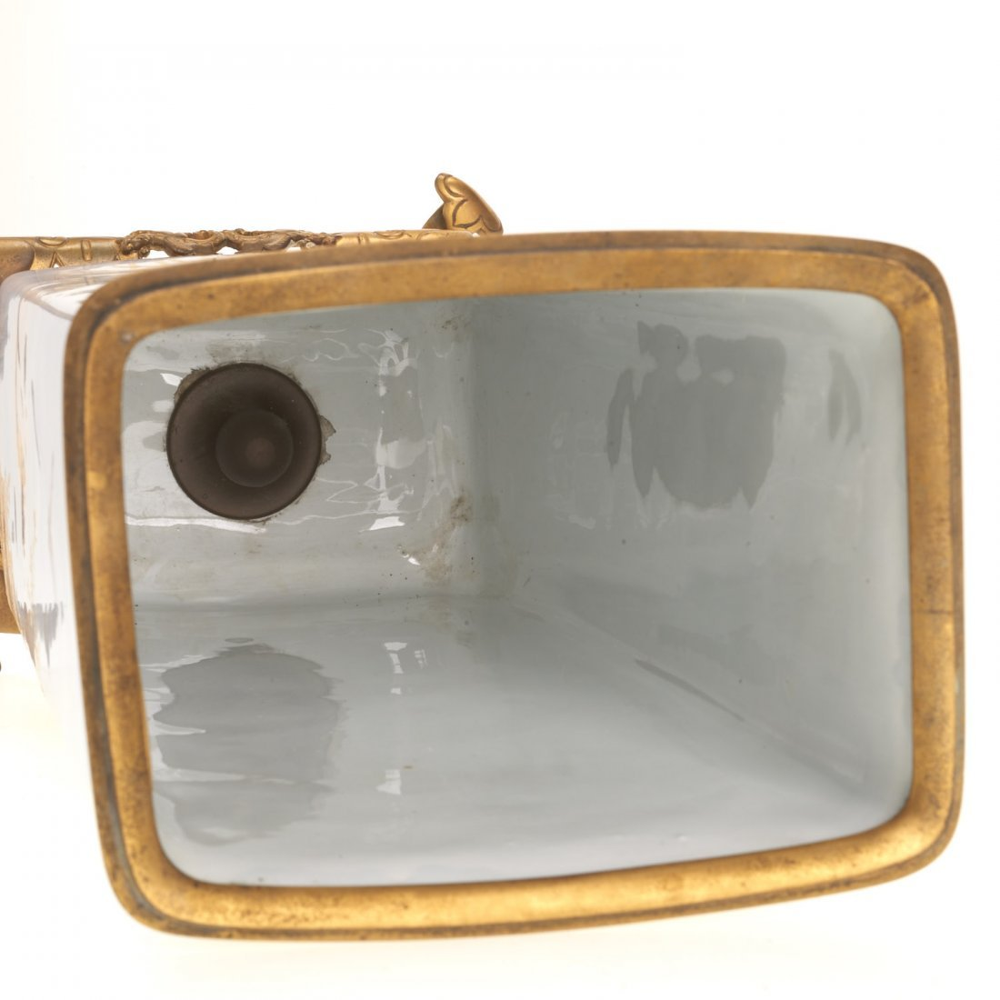 Gilt bronze mounted porcelain vase signed Baston - 10