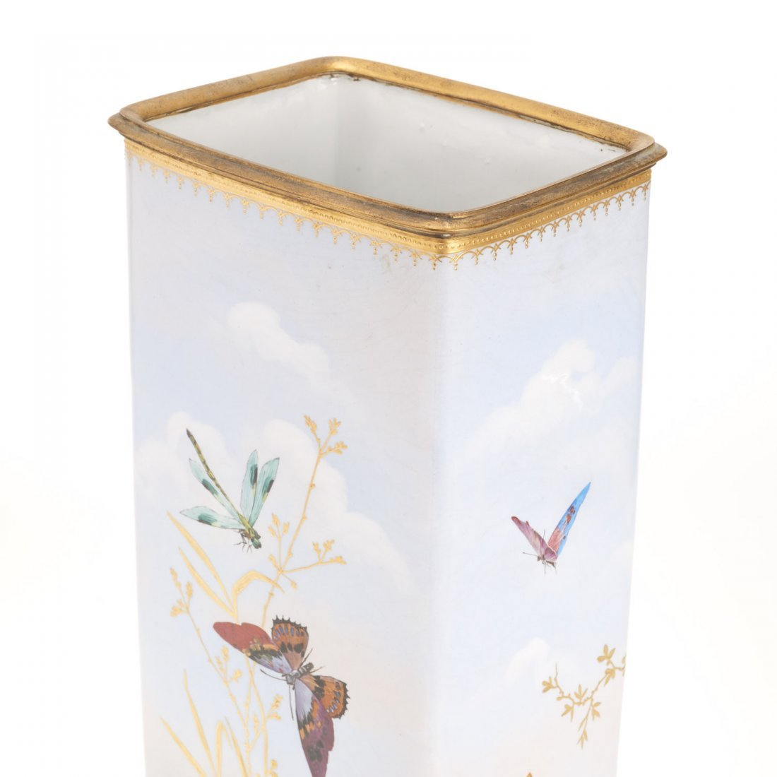 Gilt bronze mounted porcelain vase signed Baston - 2