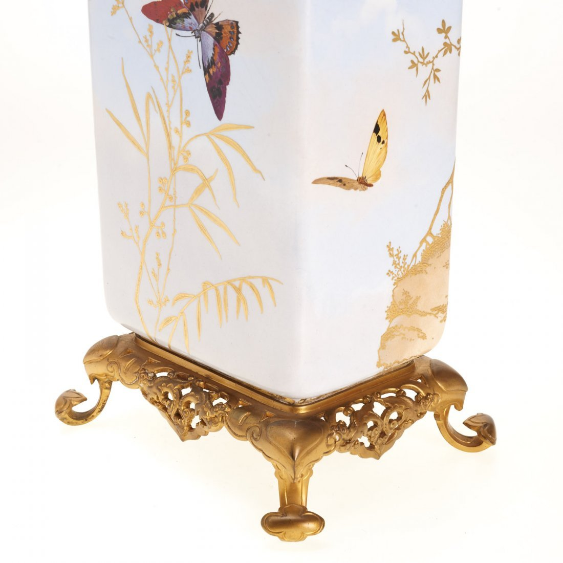 Gilt bronze mounted porcelain vase signed Baston - 3