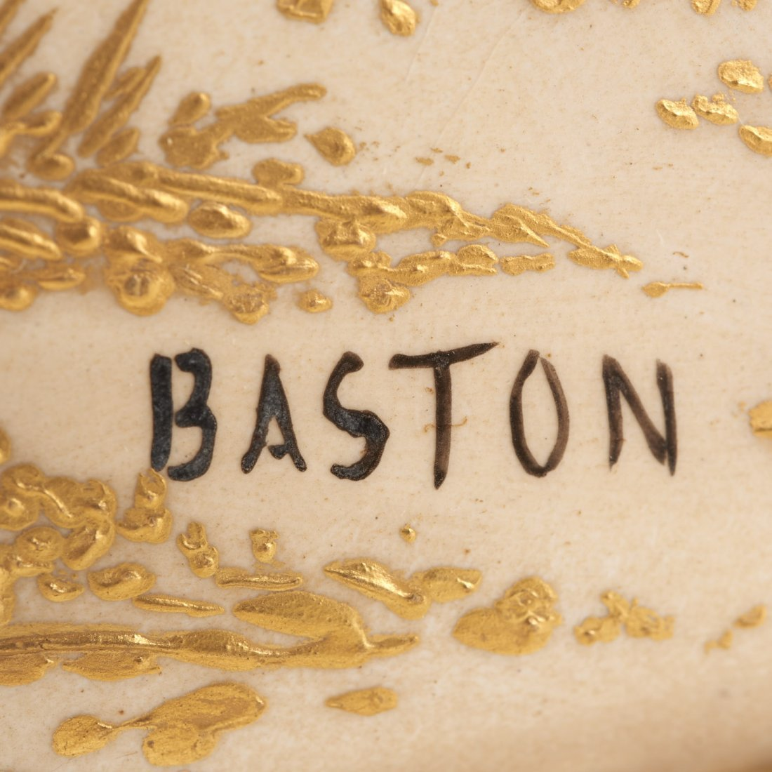 Gilt bronze mounted porcelain vase signed Baston - 7